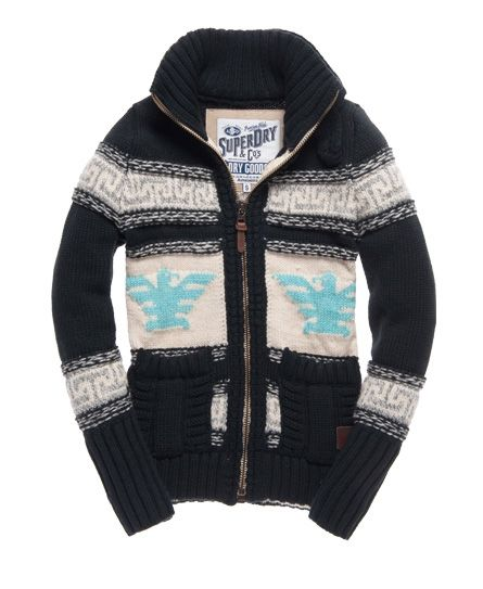 Superdry Big Zip Buffalo Knit