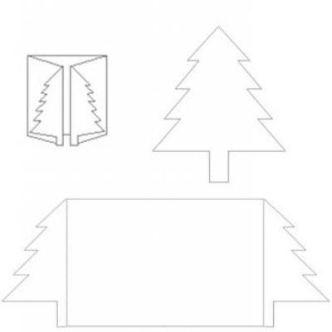 Christmas Tree Card Template {Printable Template} *~Christmas - printable christmas card templates