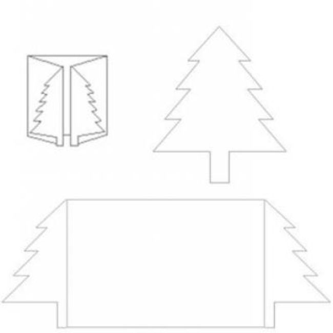 Christmas Tree Card Template Printable Template Card Templates Printable Christmas Tree Cards Christmas Cards Handmade