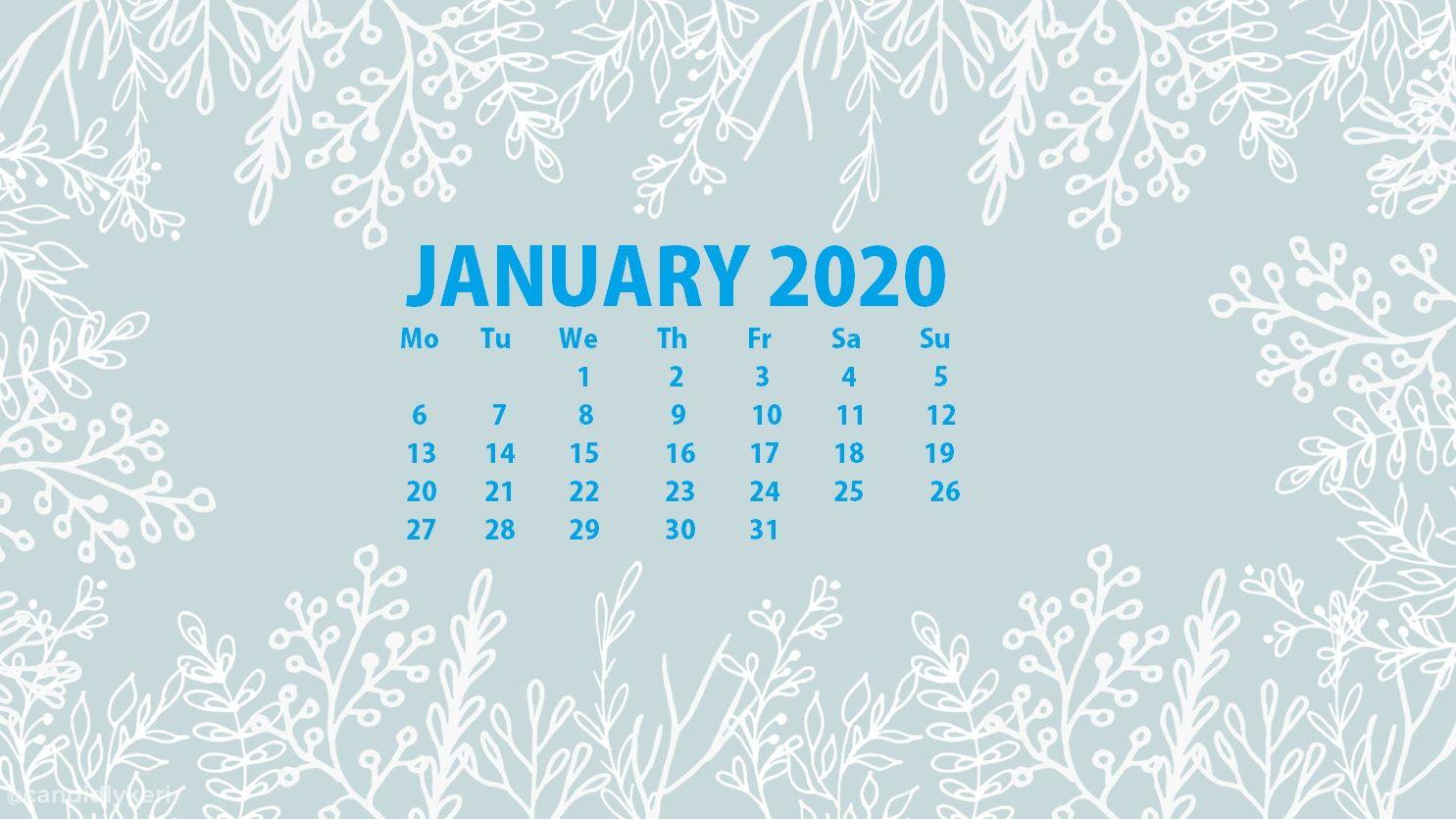 Best January 2020 Desktop Calendar Wallpaper