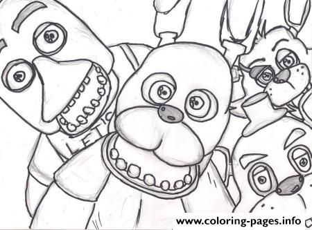 Print family five nights at freddys fnaf 2 coloring pages For