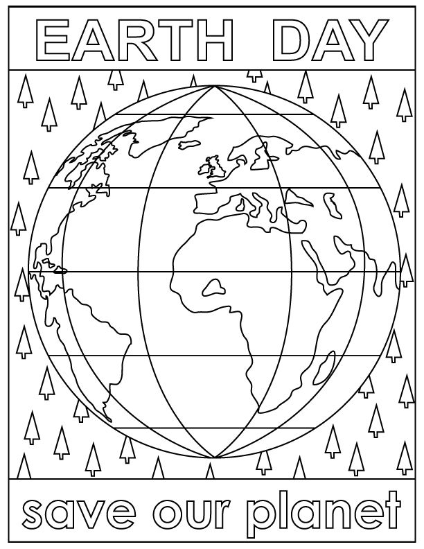 Earth Day Coloring Pages   Modern artwork, Art activities and Earth