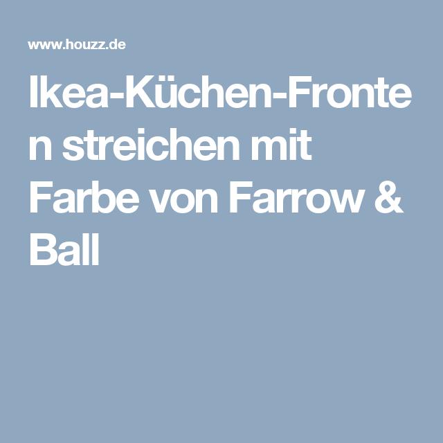 Ikea k chen fronten streichen mit farbe von farrow ball for Ikea kuchen fronten