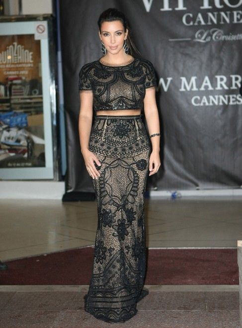 d3d0a65e1e9 Kim Kardashian in Emilio Pucci on her first night at the Cannes Film  Festival