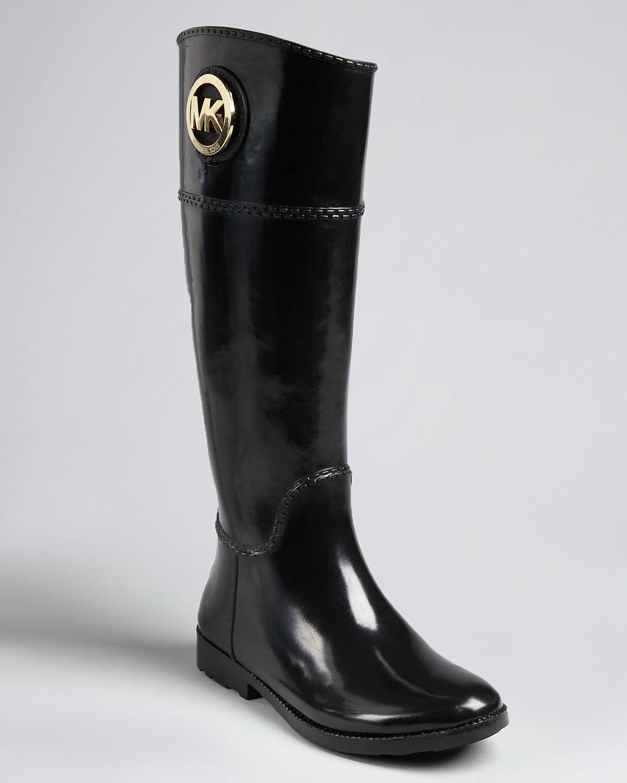 MICHAEL Michael Kors Rain Boots - Fulton Tall Logo Good ...