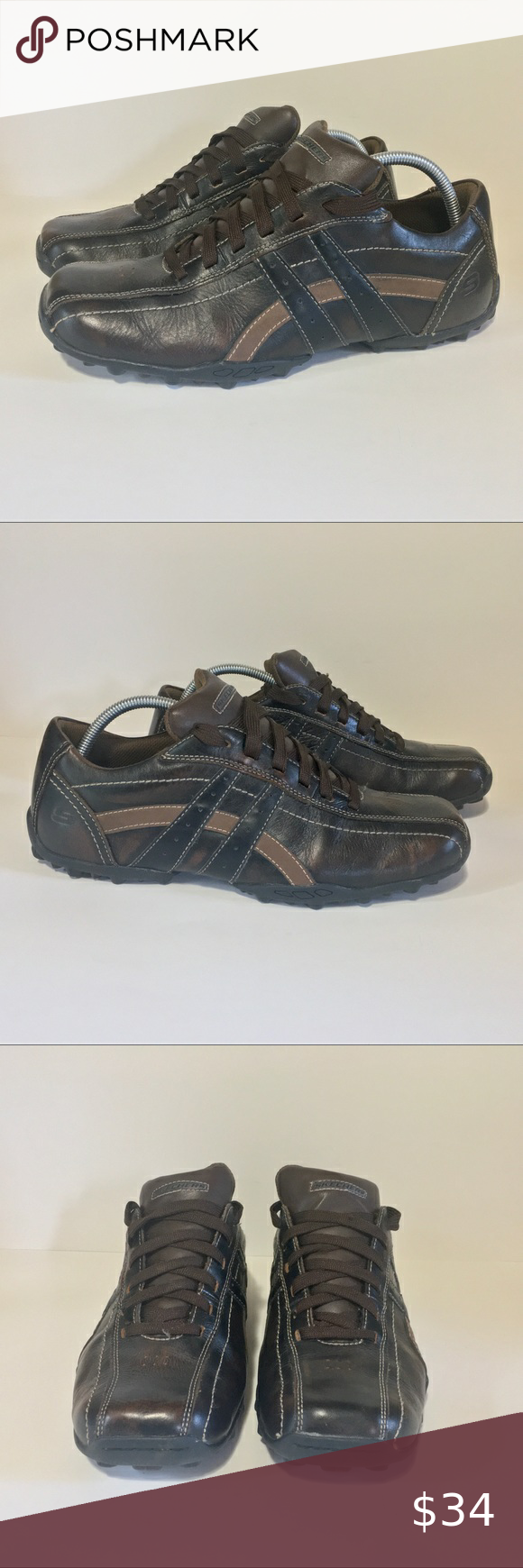 Skechers Relaxed Step Mens 10.5 Leather