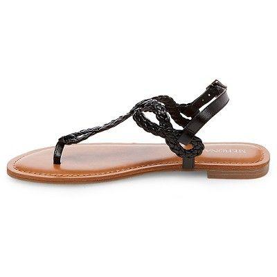 c44306c30eca Women s Wide Width Jana Quarter Strap Sandals - Merona Black 7.5W ...