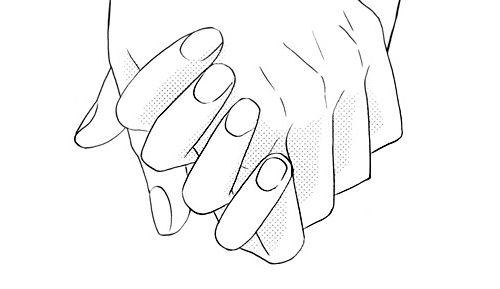 Chyorno Beloe Paren Risunok Devushka Ruki Manga Kartinki
