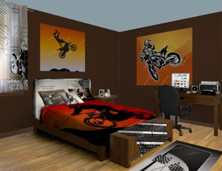 Pin By Visionbedding Com On Vision Wall Murals Dirt Bike
