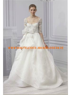 Brautkleider aus Satin mit Ärmel A-Linie online kaufen
