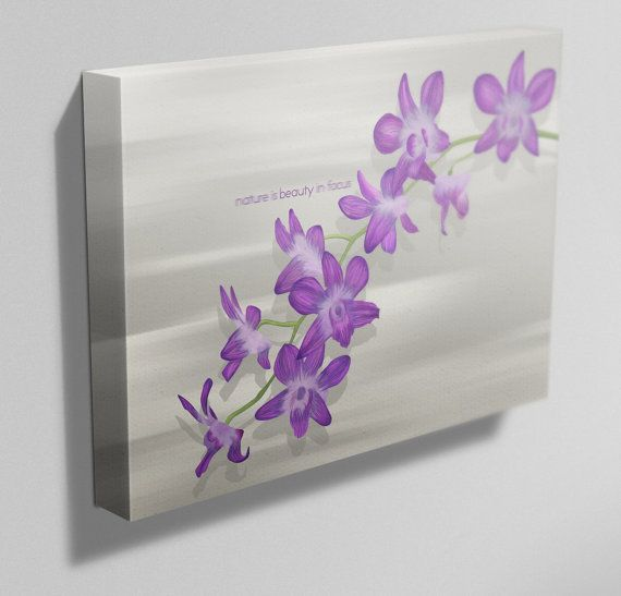 Etsy の Nature is Beauty in Focus Orchid Painting by IfActually