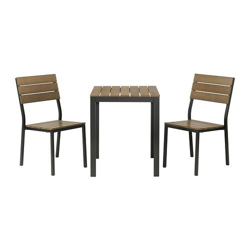 falster tisch+2 stühle/außen, schwarz, braun | ikea, stuhl und aussen, Esstisch ideennn