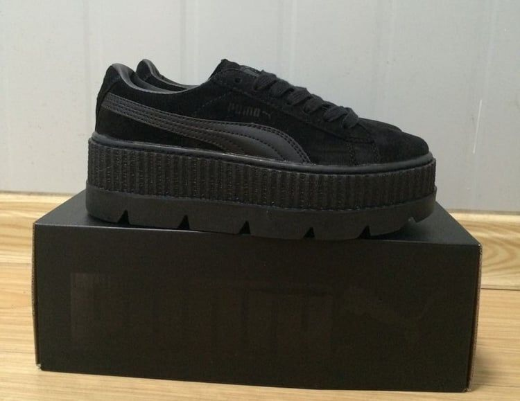 sports shoes c5c2d 15f46 PUMA x Rihanna Suede Creeper in Black #Fenty X #Puma by ...