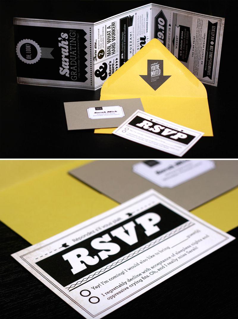 Graduation Invitation | rsvp | Pinterest | Grad parties, Graduation ...
