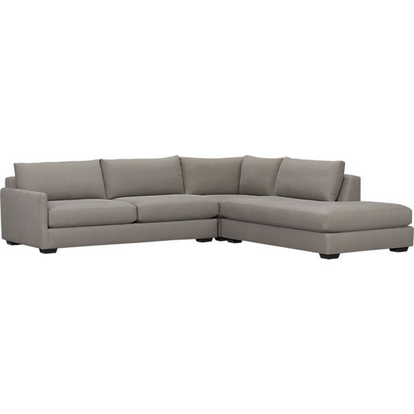 Domino 3 Piece Left Arm Sofa Sectional In Sectional Sofas Crate And Barrel With Images Sectional Sofa Sectional Furniture