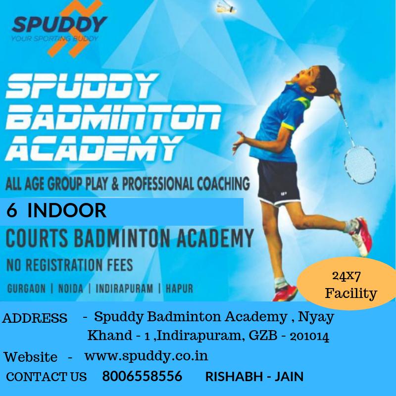 Spuddy Badminton Academy Offers The Best Facilities At Noida Indirapuram Gurgaon Badminton Club Olympic Gymnastics Badminton