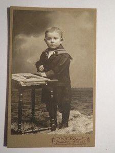 Vintage cabinet card of German sailor boy