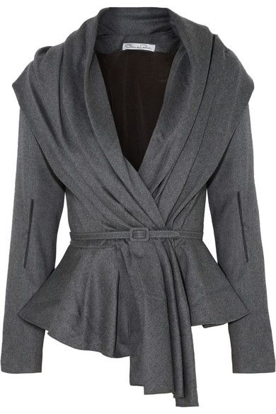 Oscar de la Renta | Skyline belted wool-blend jacket | NET-A-PORTER.COM