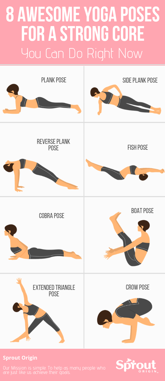 8 Awesome Yoga Poses For A Strong Core You Can Do Right Now - Fitness tips - #AWESOME #Core #Fitness...