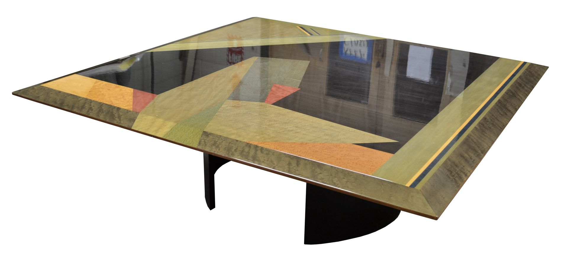 Buy square multi colored coffee table by mike bell inc westwater patterson limited edition designer furniture from dering halls collection of