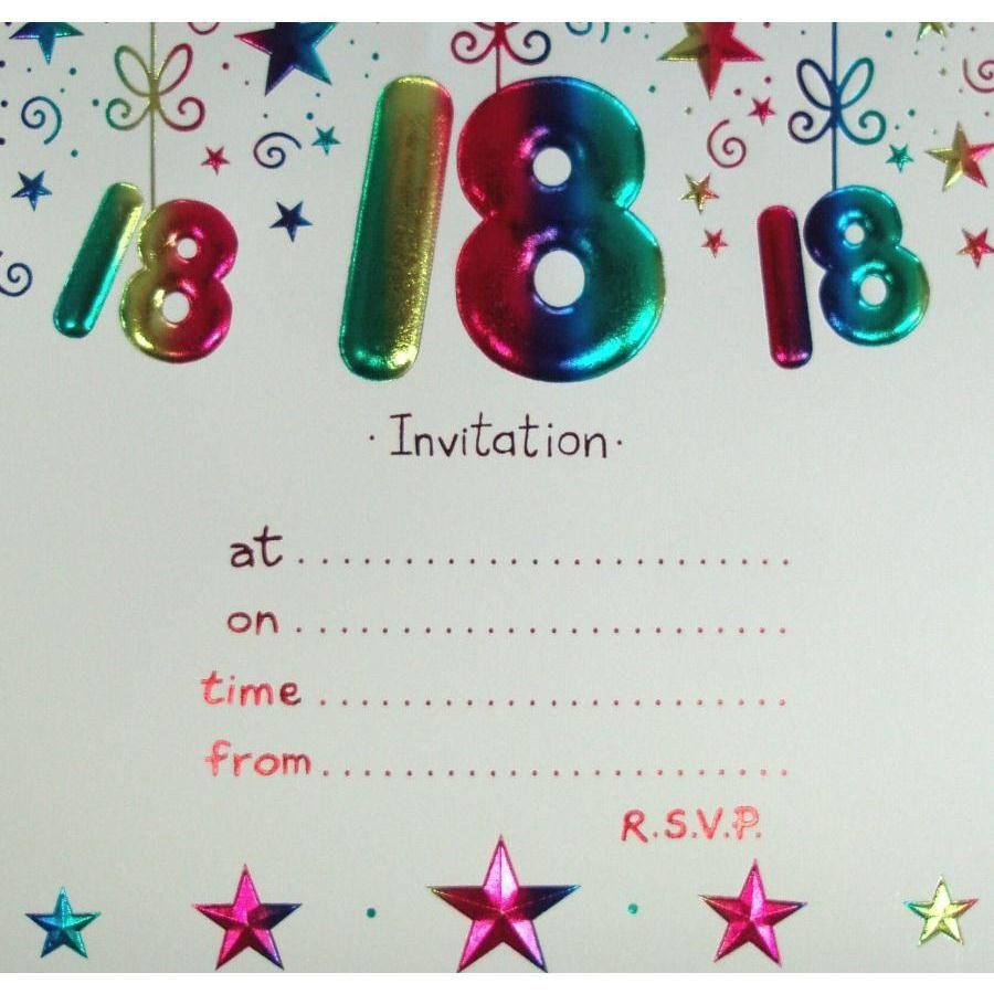 18th birthday invitation templates 18
