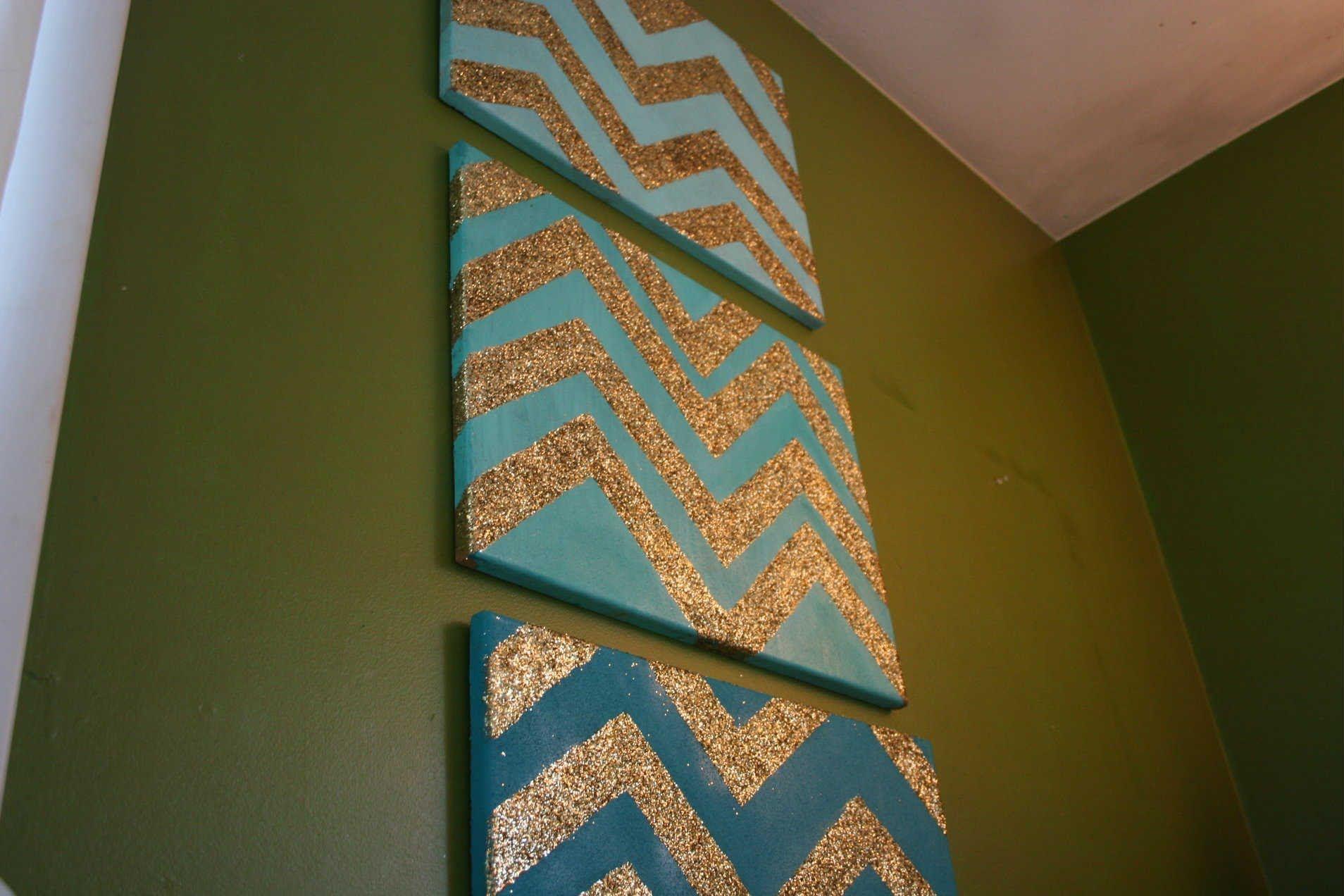 DIY Glitter Chevron Cork Boards! | Beautytwins124