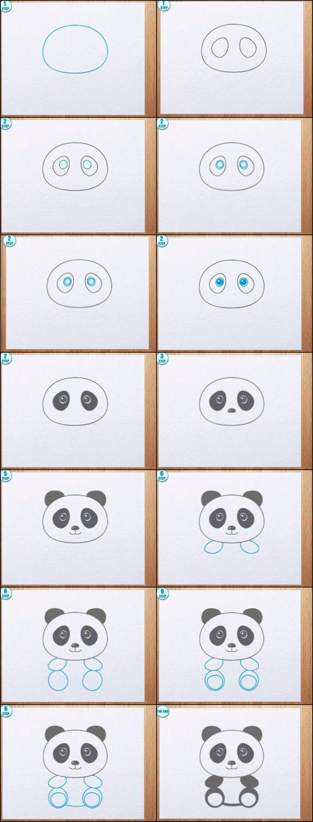 Dessin Panda Facile comment dessiner un panda | nana | pinterest | dessin, panda dessin