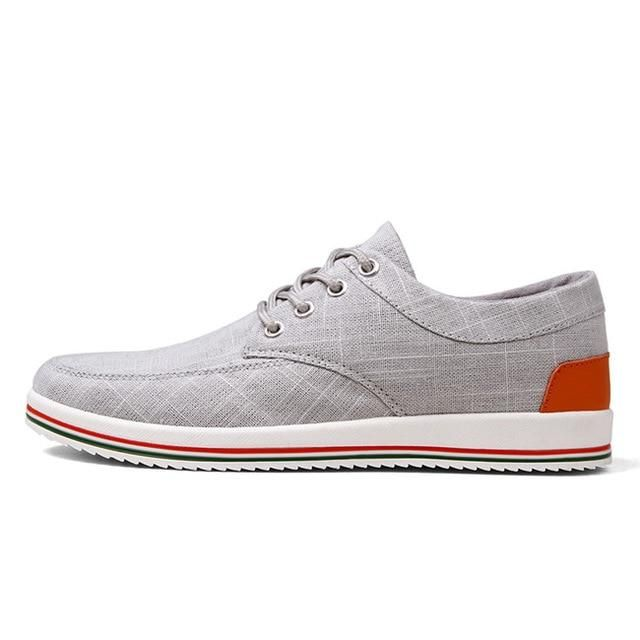 New Men's Shoes Flats High Quality Casual Men Shoes – gray 642 / 9.5
