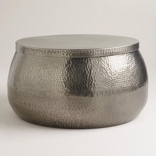 Cala Hammered Coffee Table Hammered Coffee Table Silver Coffee Table Drum Coffee Table