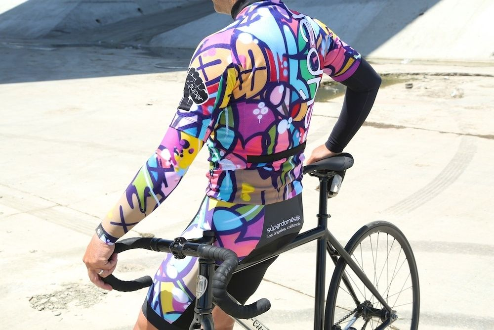 súpərdomestik: WILDSTYLE : 'Rapper's Delight' : Limited Edition Cycling Jersey. Inspired by Brooklyn photograph.