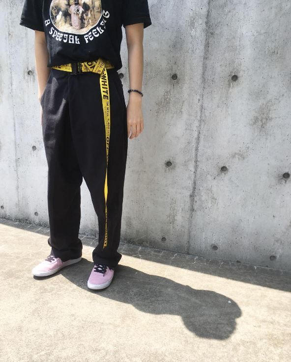 industrial belt off white outfit