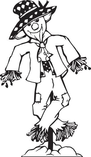 FREE Printable Scarecrow Coloring Page for Kids | Fall ...