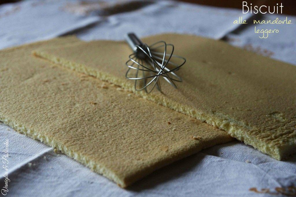 Biscuit alle mandorle leggero   Vaniglia e Pistacchio