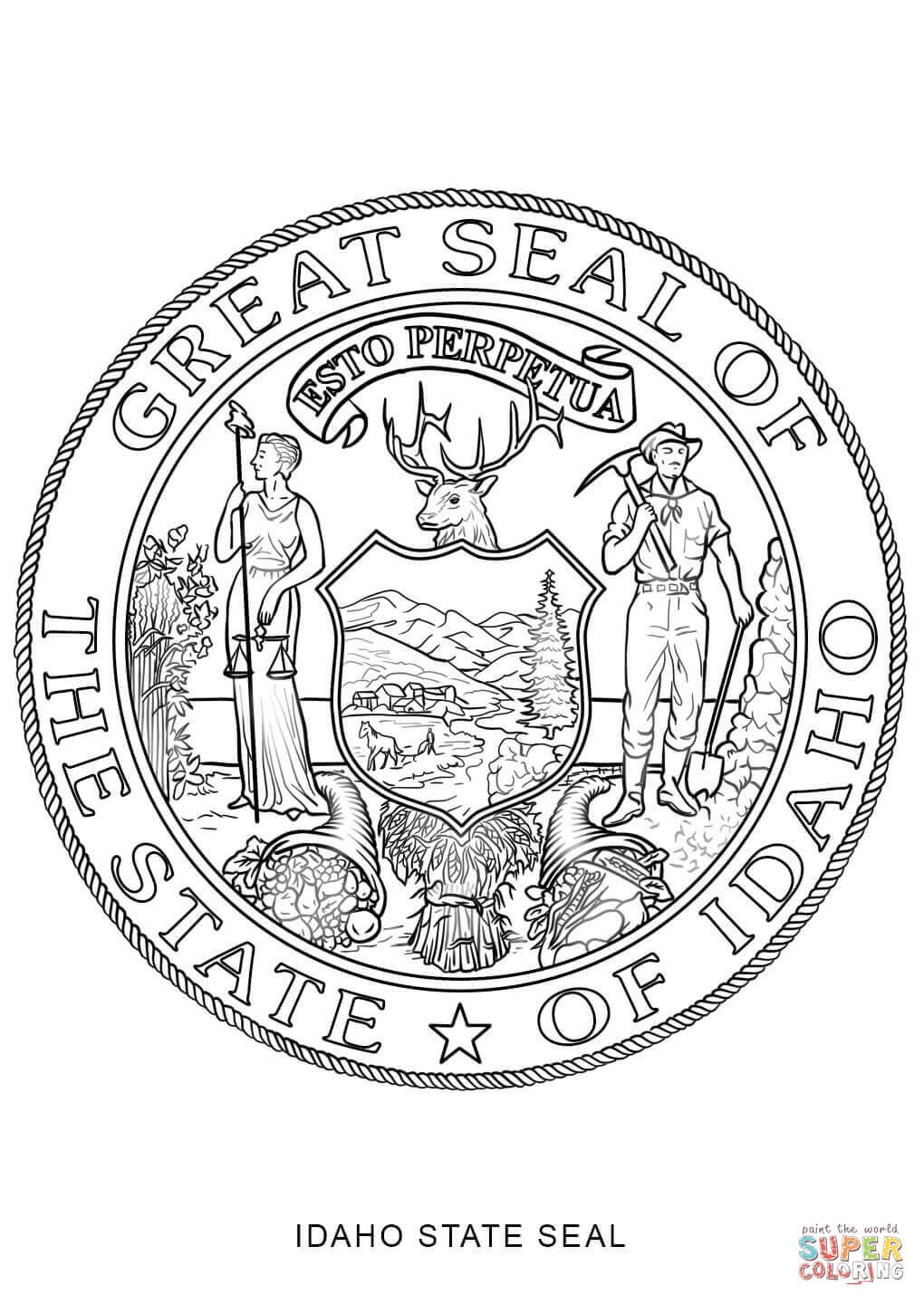 Georgia State Seal Coloring Pages Coloring Pages Flag Coloring Pages Texas Map