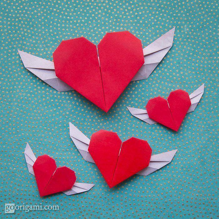 Corazon Con Alas Con Origami Manos A La Obra Pinterest - Origami-corazn