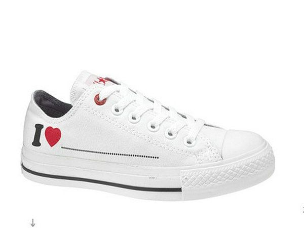 0a55345f83ba0e Converse All Star Unisex Heart prints Low Top Canvas White Shoes ...