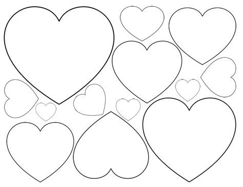 This is a graphic of Printable Heart Shapes for perfect
