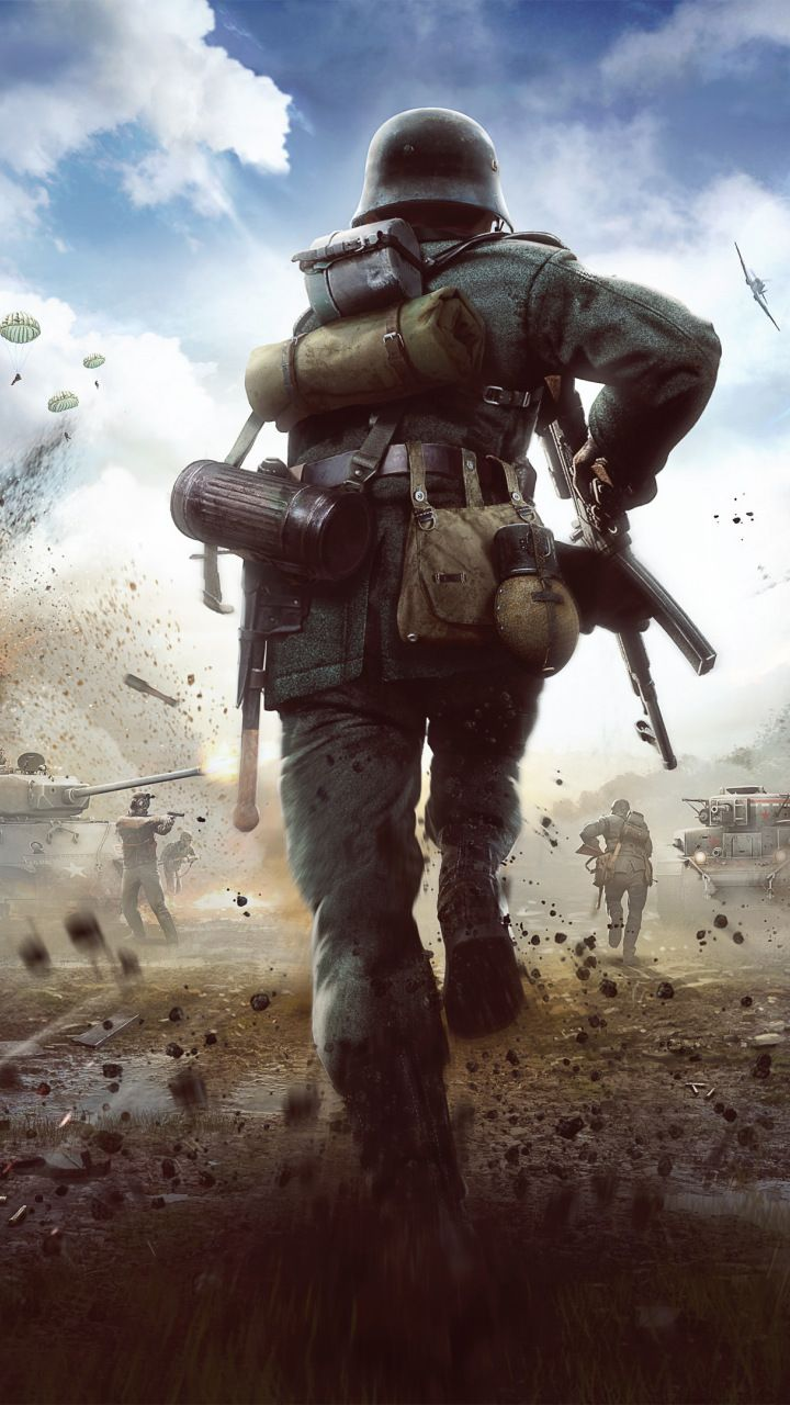 Heroes & generals, soldier, battle ground, 720x1280 wallpaper