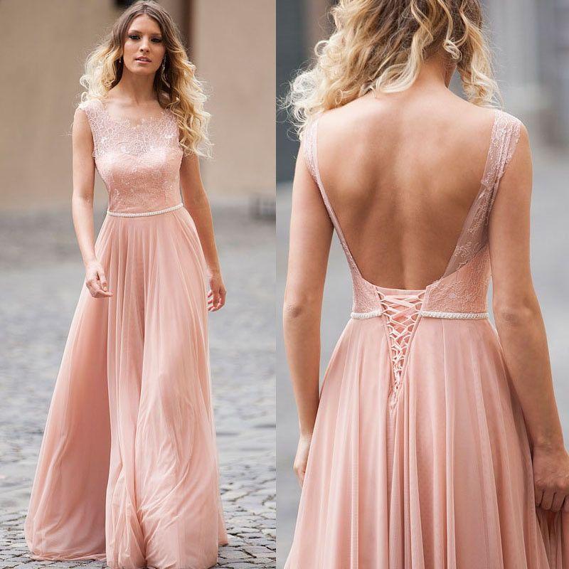 Blush Pink Bridesmaid Dresses,Lace Top Bridesmaid Dresses,Bridesmaid ...
