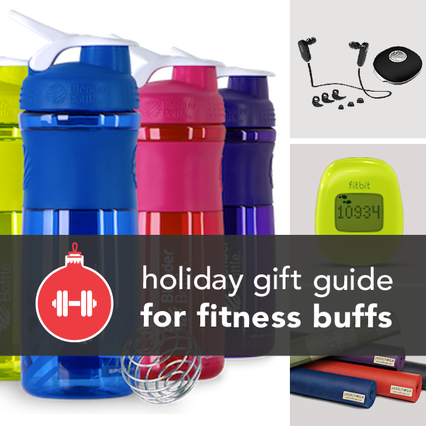 The Essential Holiday Gift Guide for Fitness Buffs. I especially loved the foam roller, water bottles and UA headbands!