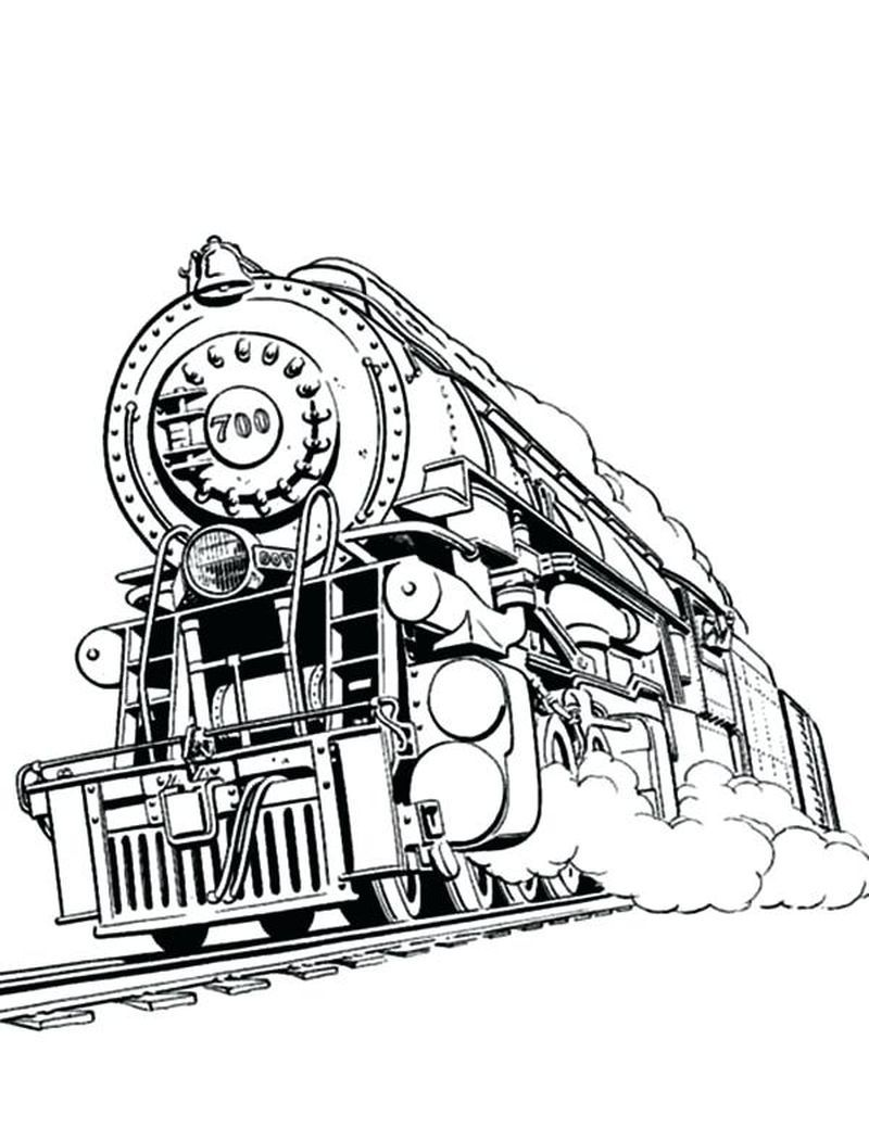 Printable Train Coloring Pages In 2020 Train Coloring Pages