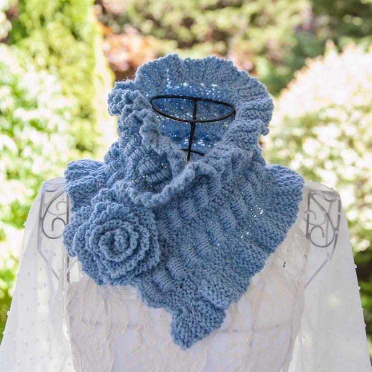 Loom Knit Scarf Cowl PATTERN Victorian Neckwarmer Cowl ...