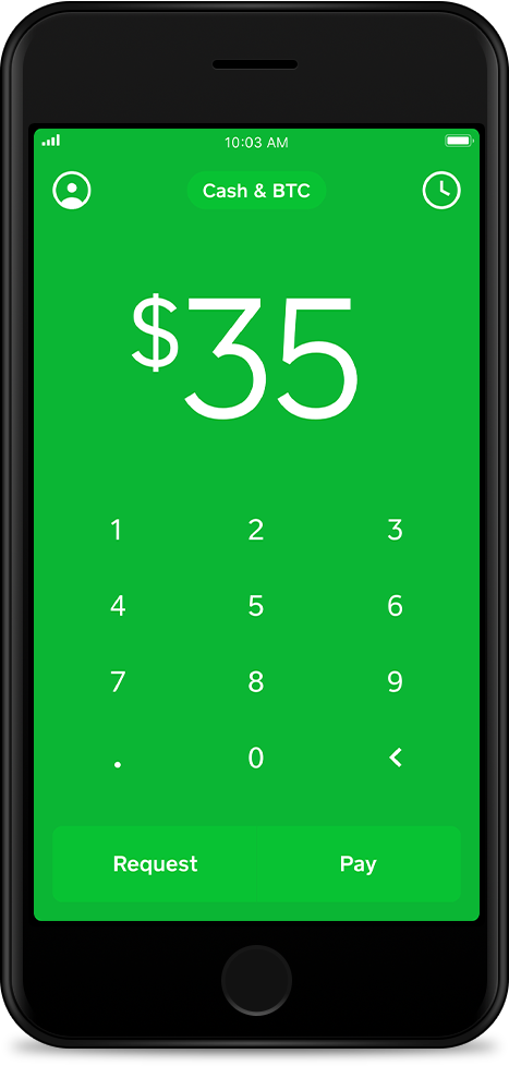 Cash App on iPhone with the Cash card Buy bitcoin