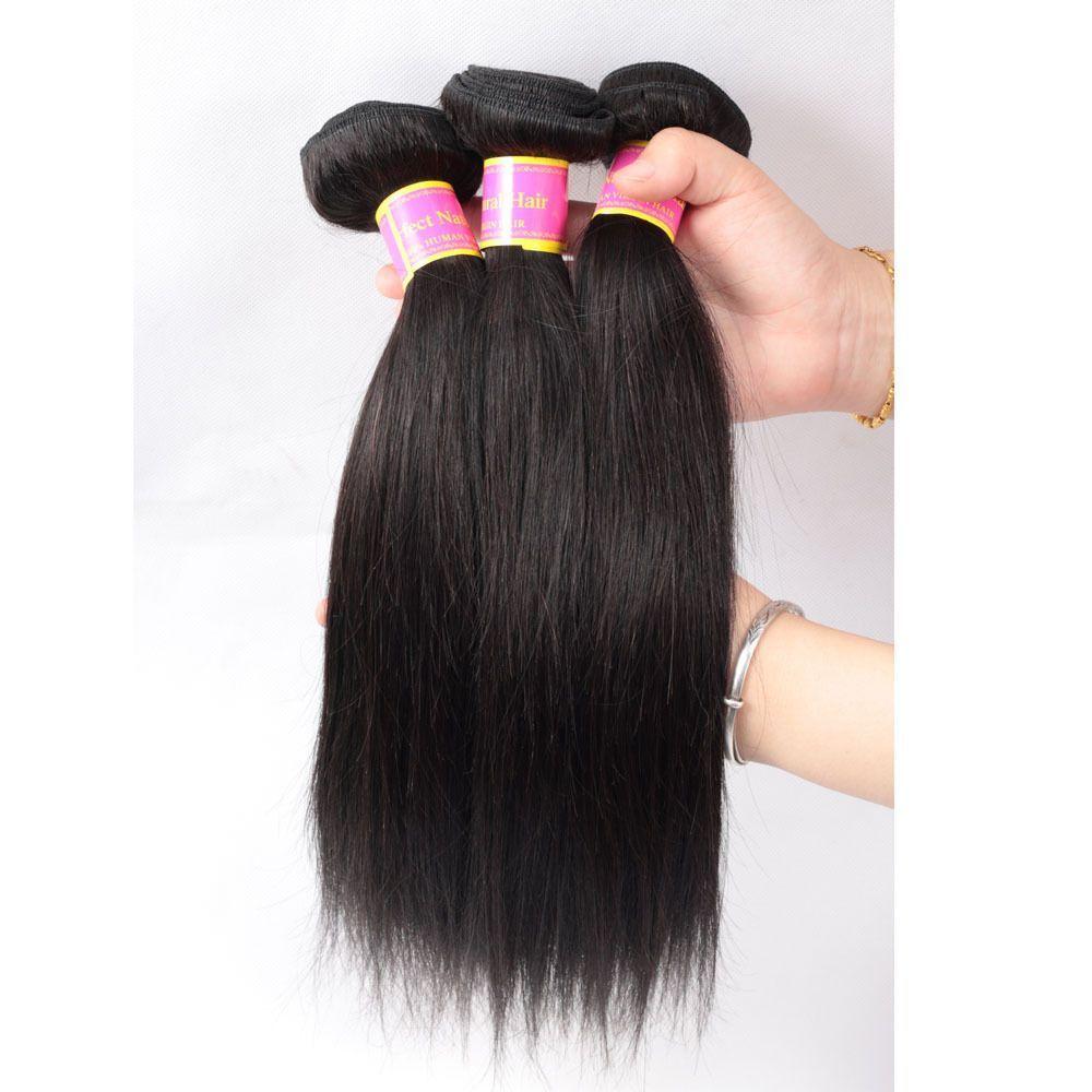 1 Bundle 100 Virgin Brazilian Straight Hair Extension Human