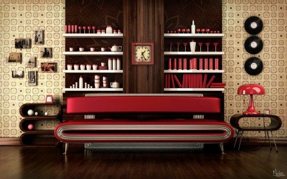 Earth Tone Colour Scheme With Contrasting Red.