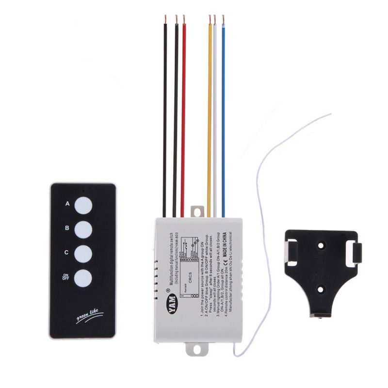 3 Way Port On Off 220v Lamp Light Digital Wireless Wall Remote Control Switch Receiver Transmitter Free Shipping Wholesale Remote Lamp Light Cool Electronics