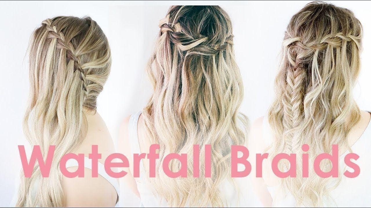 3 Ways to Waterfall Braid Hairstyle Tutorial - KayleyMelissa - YouTube # water fall Braids tutorial 3 Ways to Waterfall Braid Hairstyle Tutorial - KayleyMelissa
