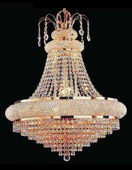 Austrian Crystal Chandelier with 18 Carat gold fittings | The Art ...:Austrian Crystal Chandelier with 18 Carat gold fittings,Lighting