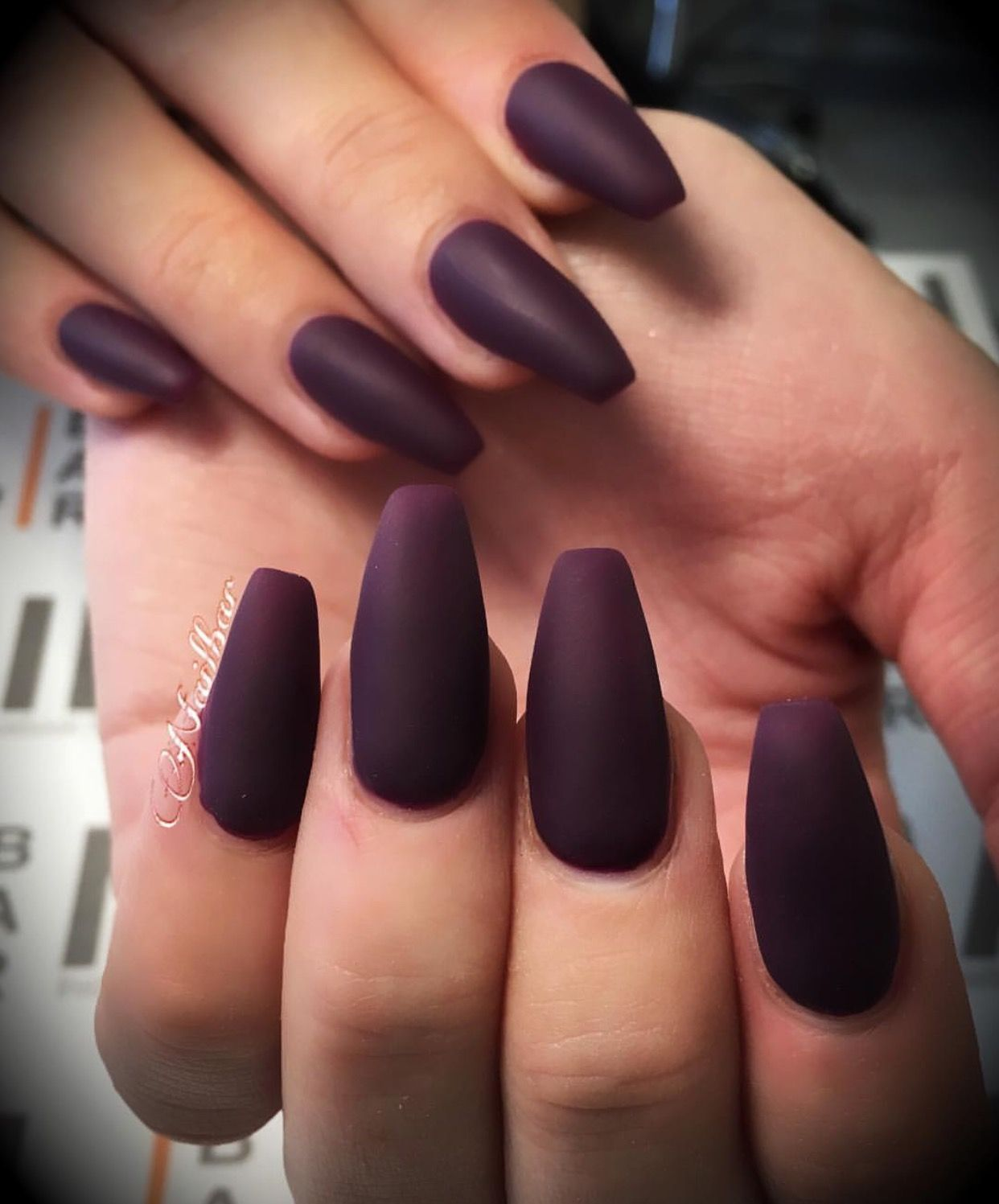 Maroon Matte Coffin Nails Obsessed Matte Maroon Nails Coffin Nails Matte Maroon Nails