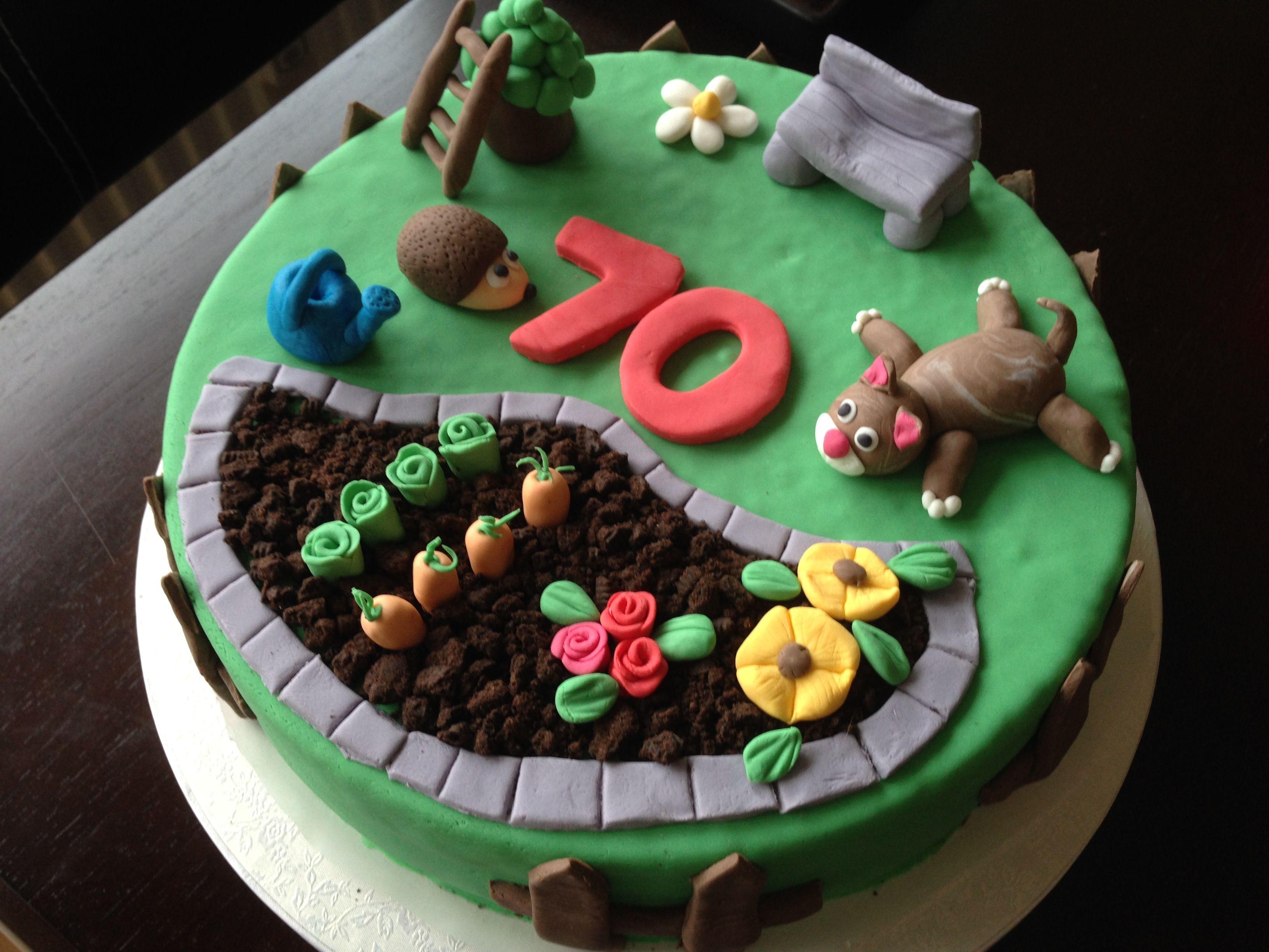 Birthday Cake Garden Motivtorte Garten Kuchen Gartenmotiv Tortenverzierungstipps Motivtorten
